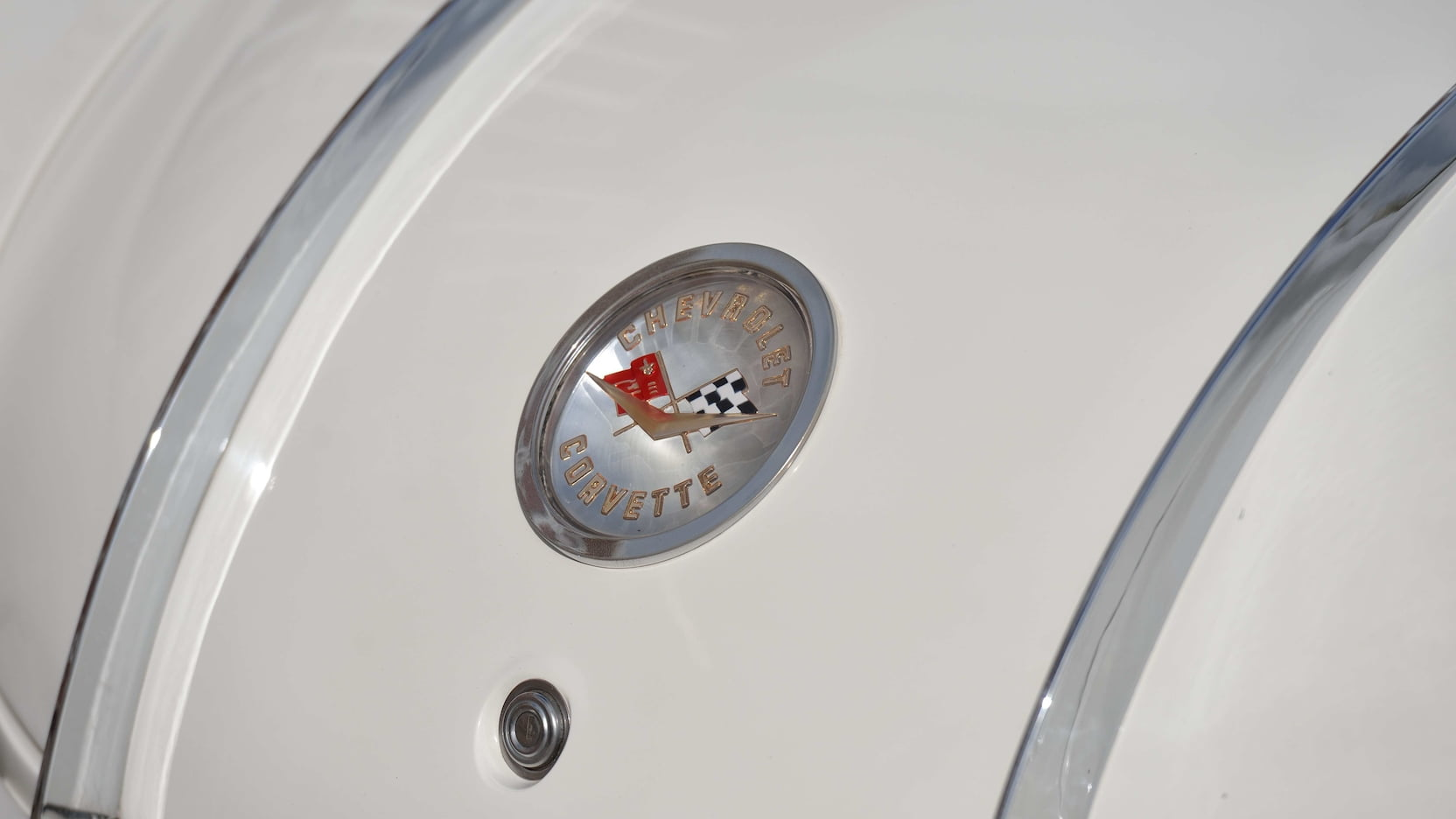 1958 Chitwood Thrill Show Corvette Convertible Trunk Emblem Detail