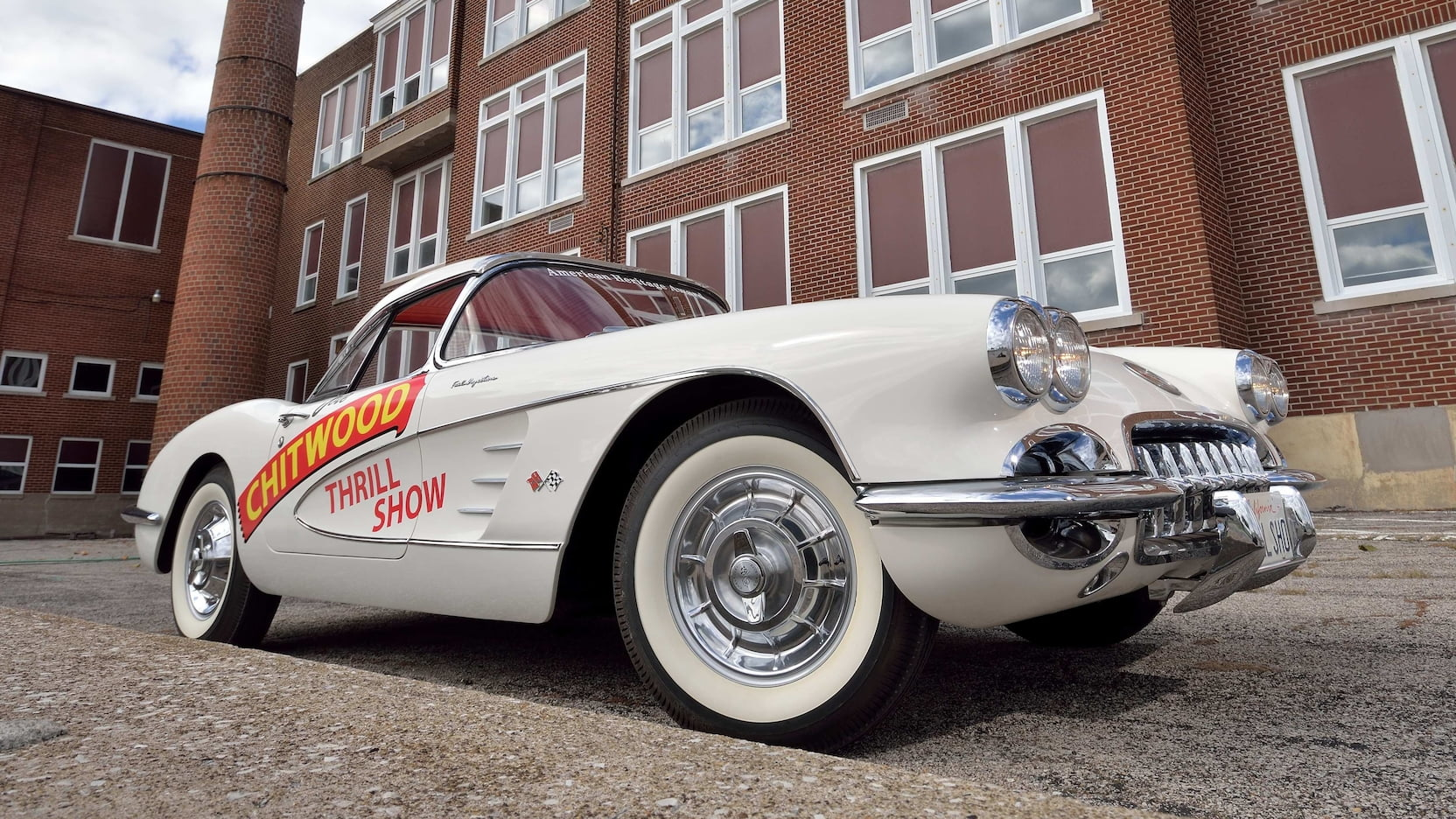 1958 Chitwood Thrill Show Corvette Convertible Low Front Three-Quarter