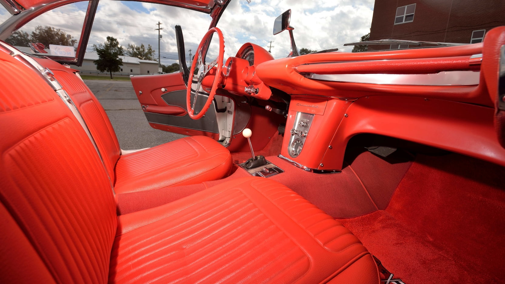 1958 Chitwood Thrill Show Corvette Convertible Red Interior