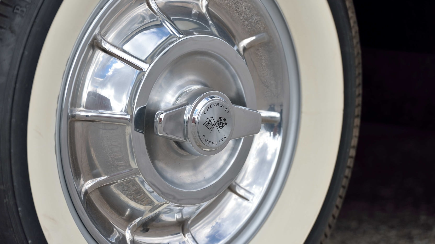 1958 Chitwood Thrill Show Corvette Convertible Wheel Detail