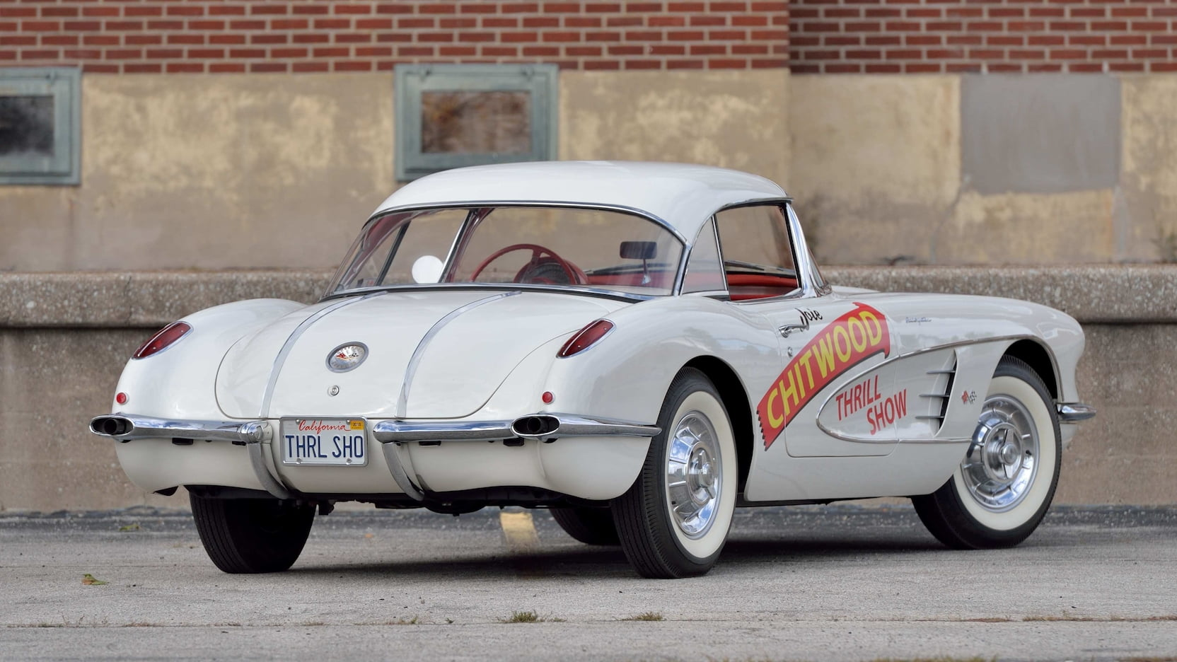 1958 Chitwood Thrill Show Corvette Convertible Rear Three-Quarter