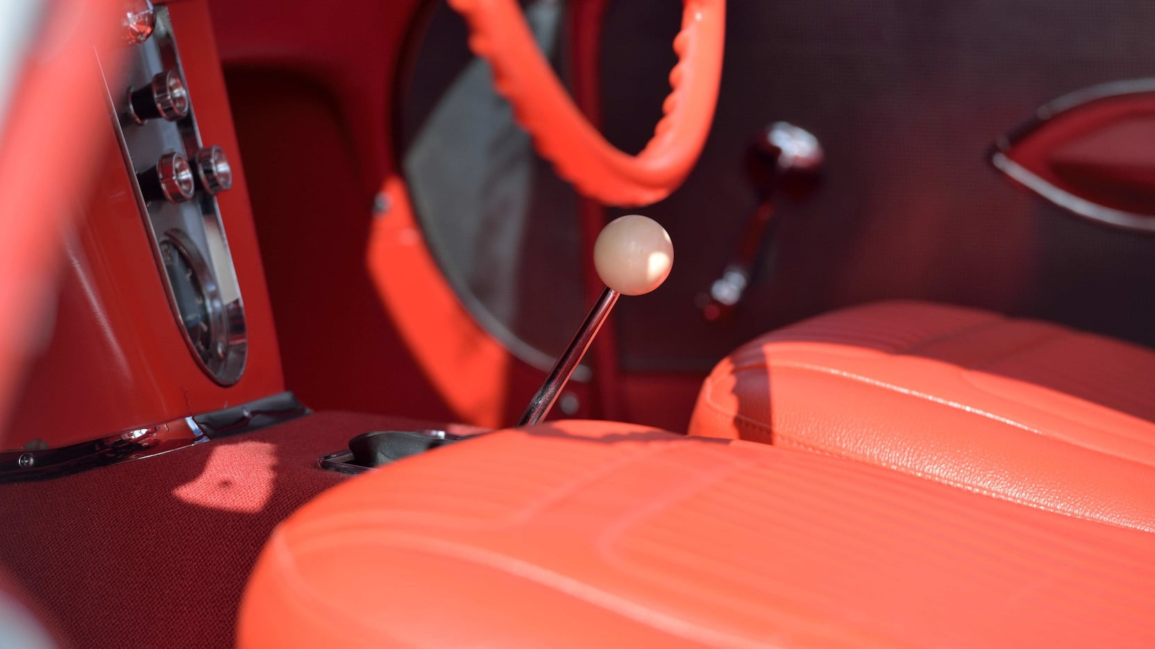 1958 Chitwood Thrill Show Corvette Convertible Interior Shifter