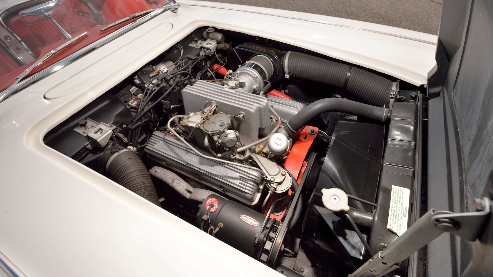 1958 Chitwood Thrill Show Corvette Convertible Engine