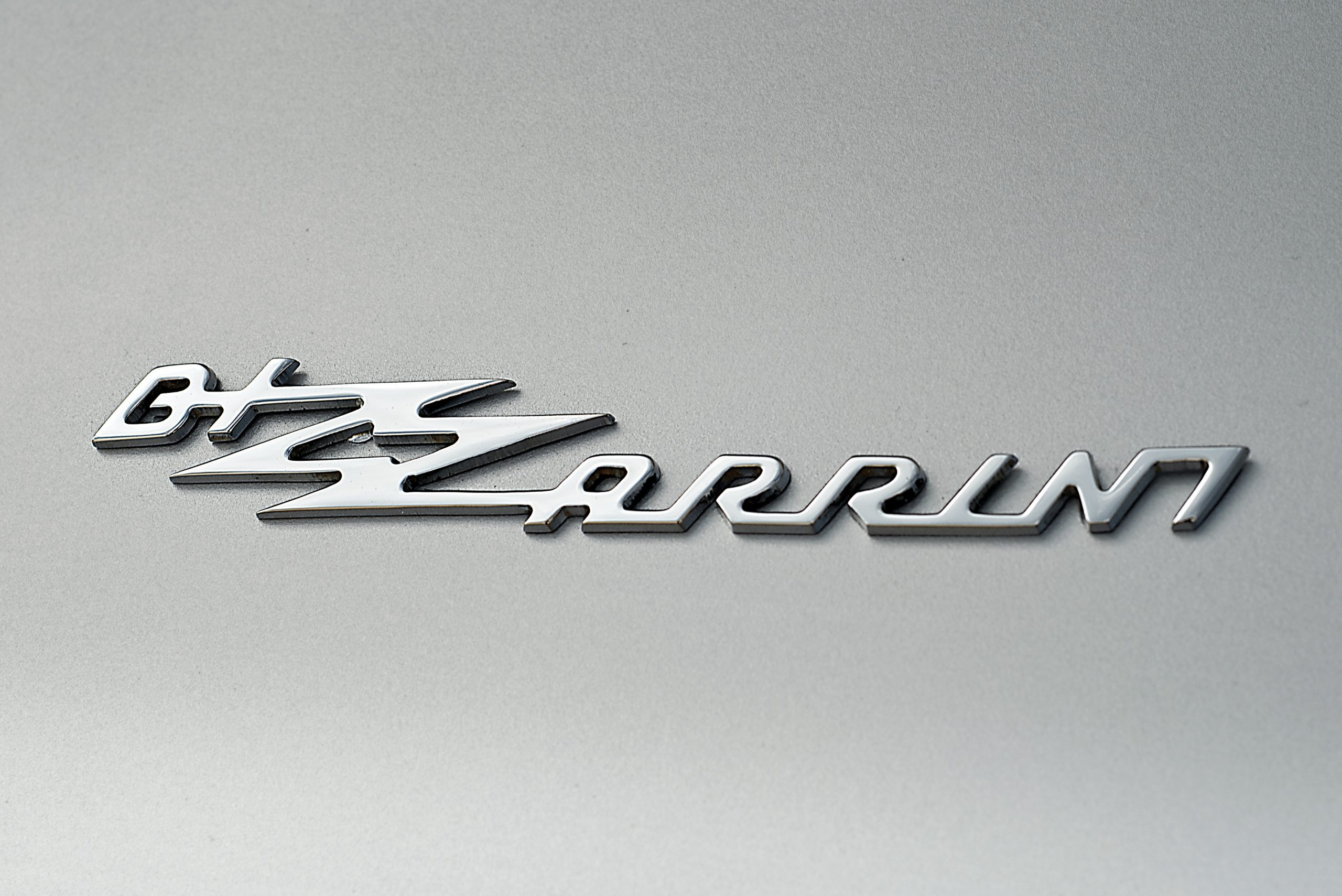 1965 Bizzarrini 5300 GT Strada Alloy rear three quarter logo