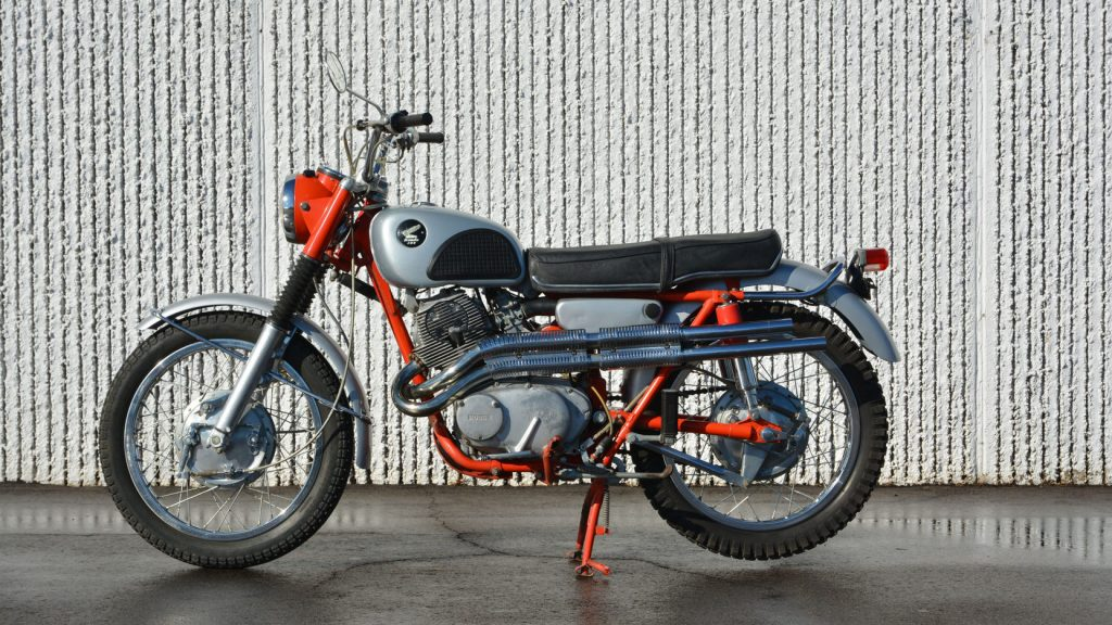1966 Honda CL77 Scrambler Side Profile