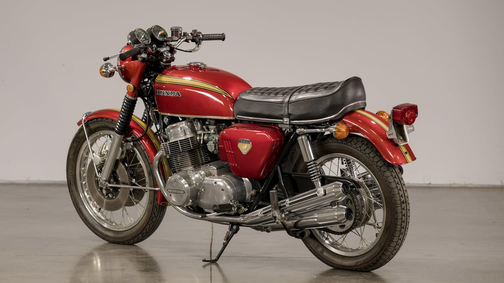 1969 Honda CB750 Sandcast Rear Three-Quarter