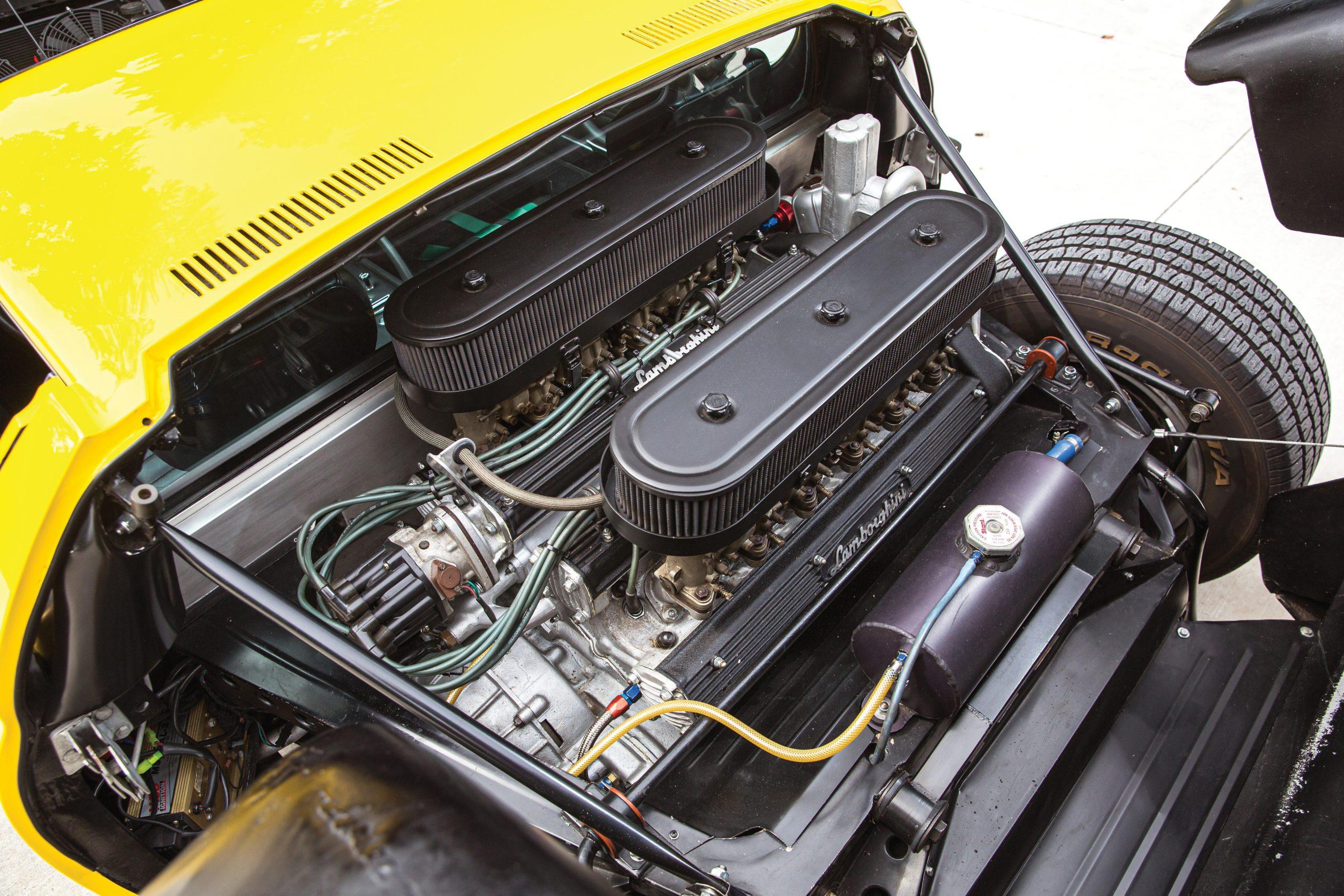 1969 Lamborghini Miura P400 S by Bertone engine