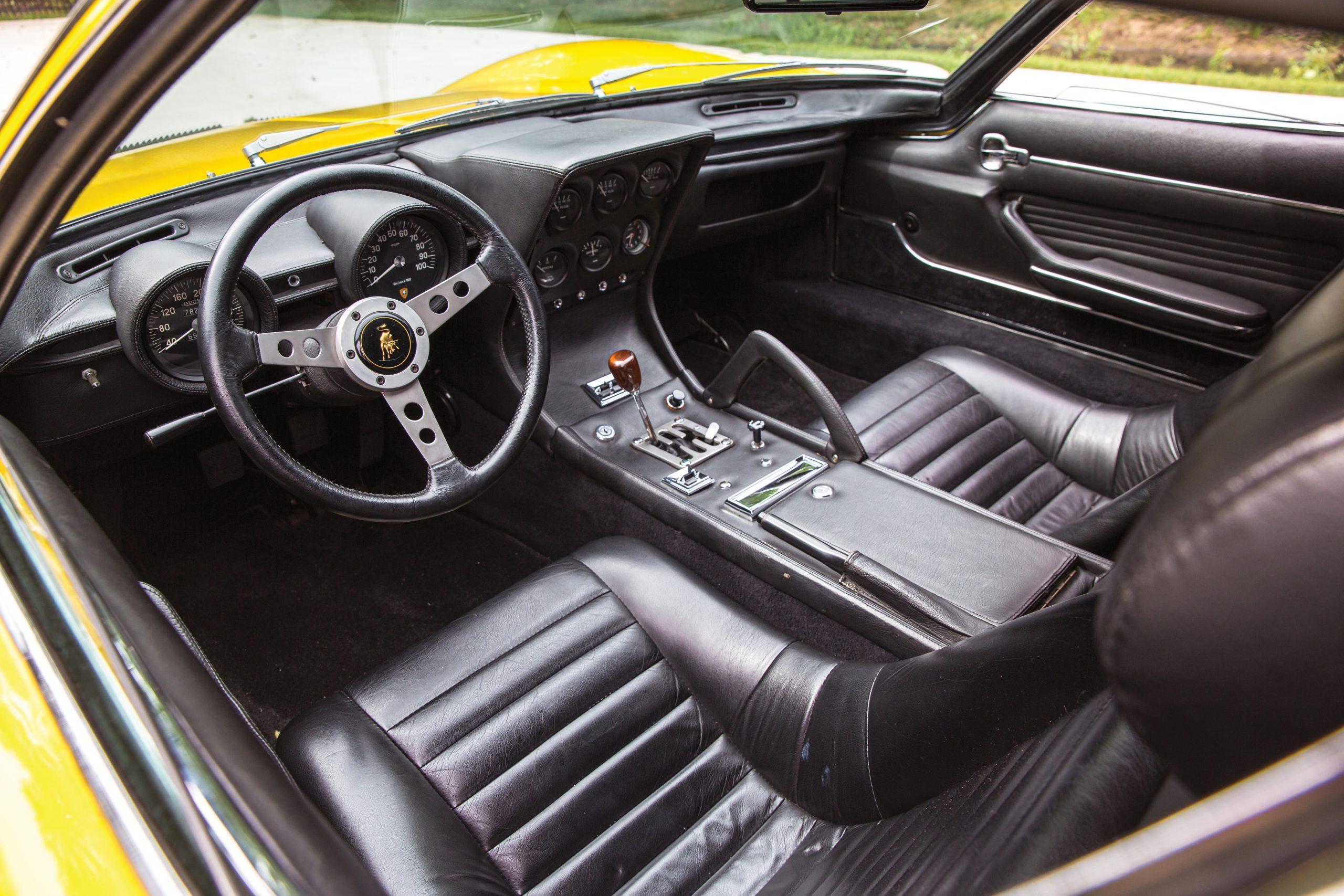 1969 Lamborghini Miura P400 S by Bertone interior