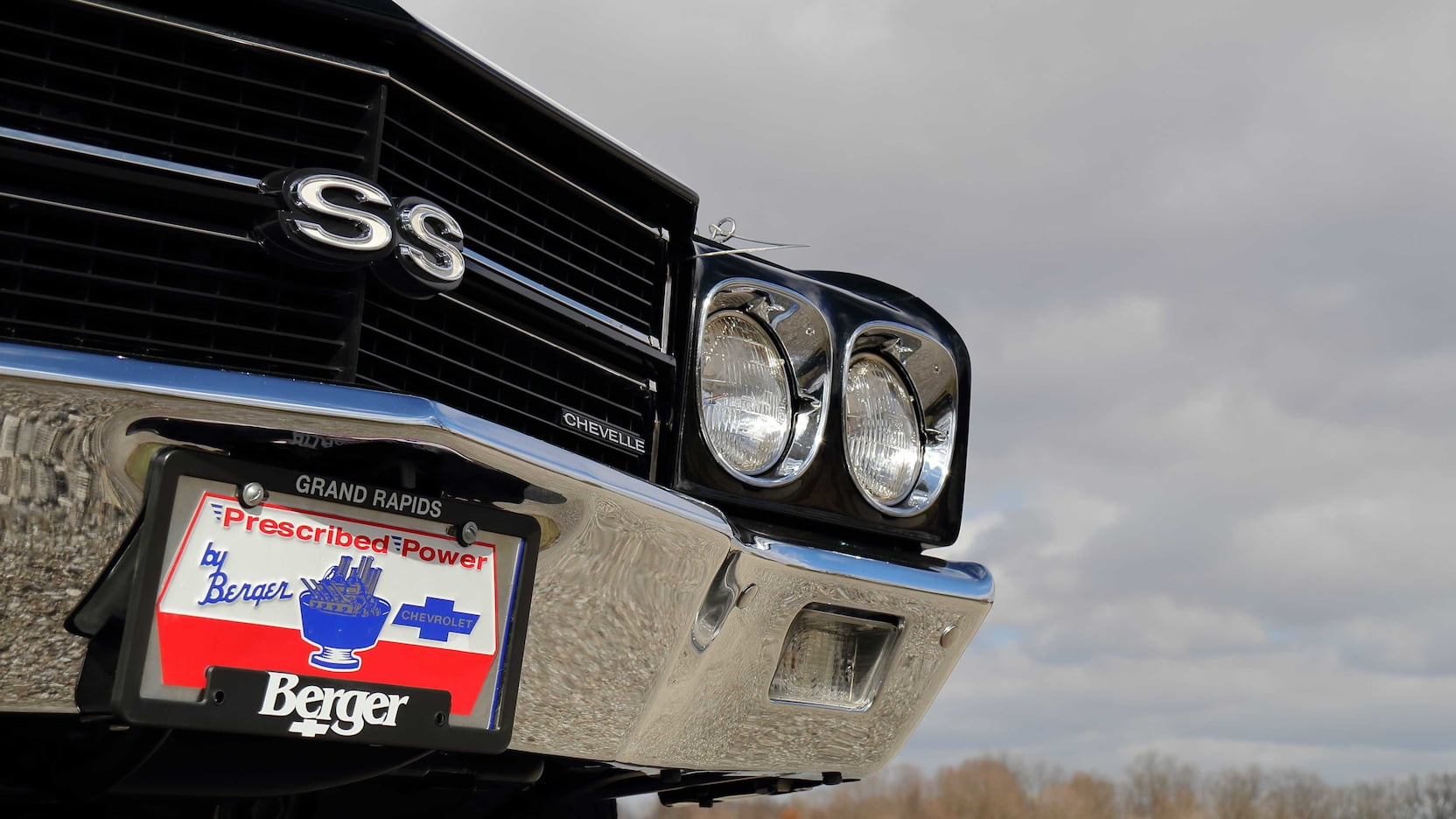 1970 Chevrolet Chevelle LS6 Convertible Front Grille Detail