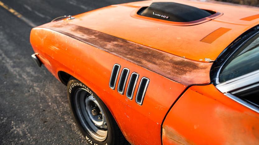 1971 Cuda Convertible Mecum fender gills