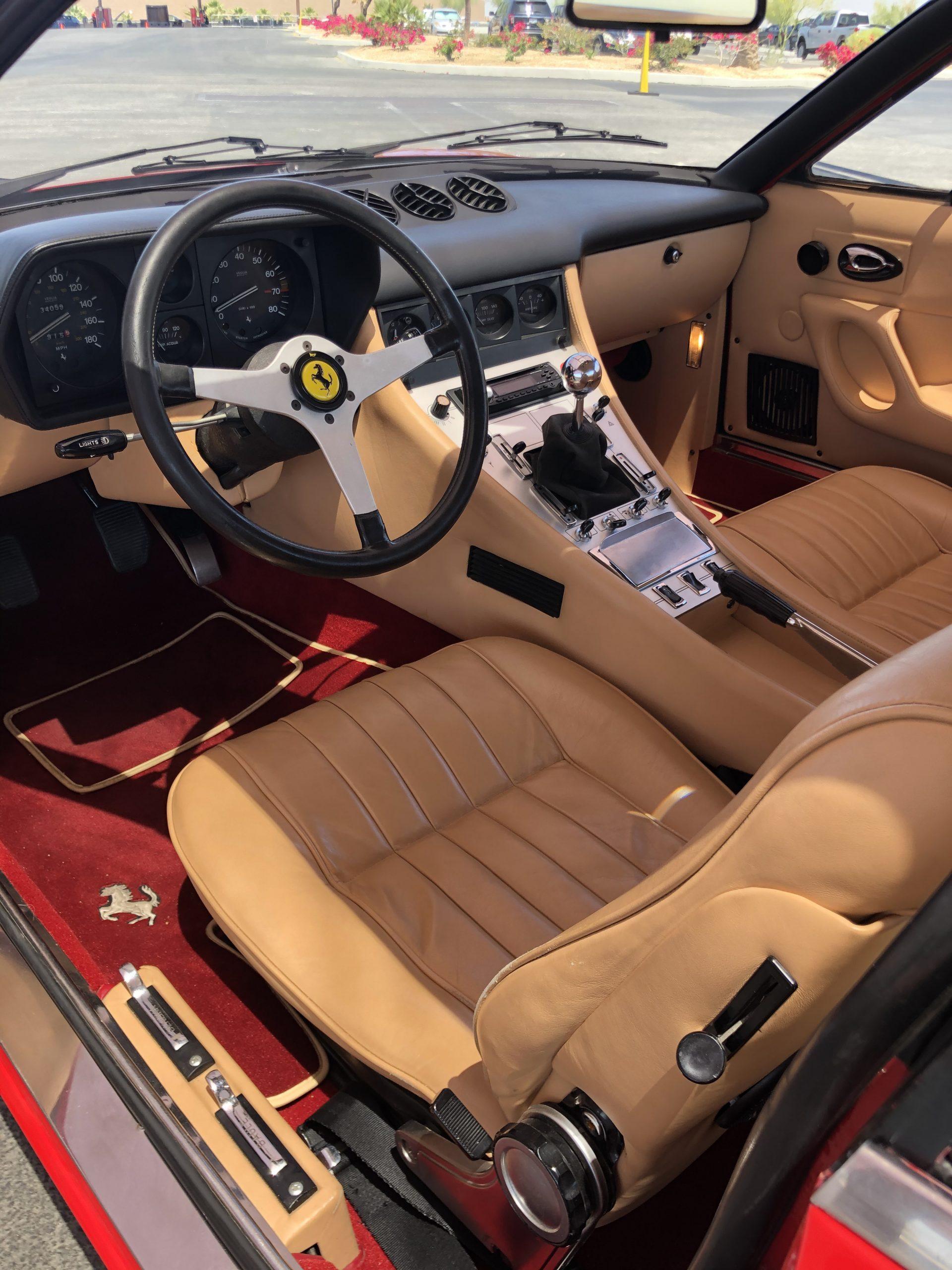 1971 Ferrari 365 GTC/4 by Pininfarina interior