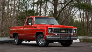 1974 Chevrolet Cheyenne Super Pickup Front Three-Quarter