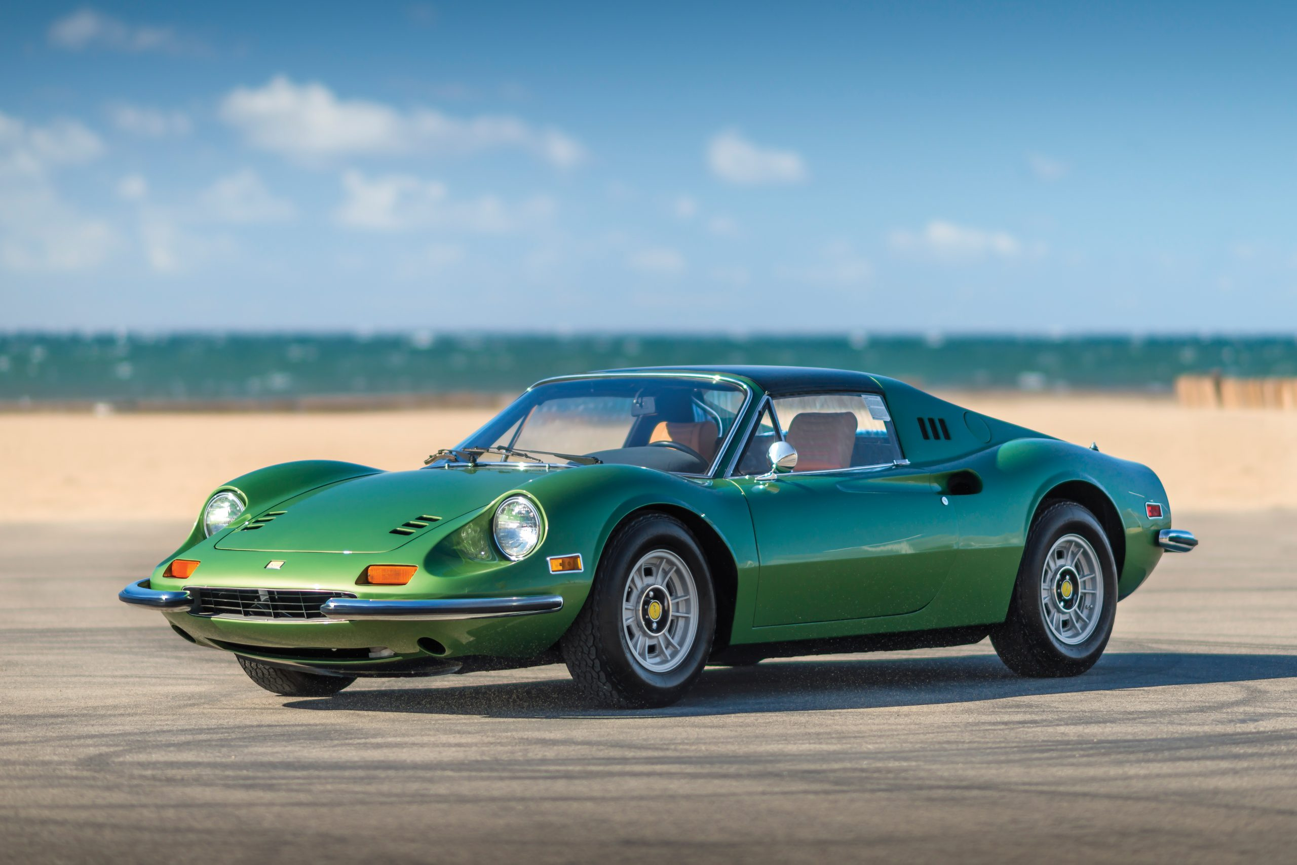 1974 Ferrari Dino 246 GTS by Scaglietti front three quarter