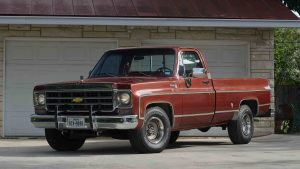 1977 Chevrolet Silverado Pickup Front Three-Quarter