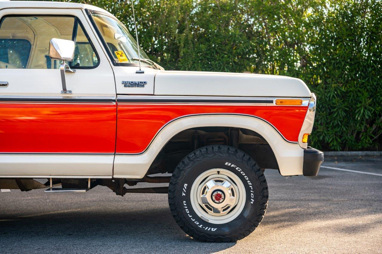 1979 Ford Bronco Custom Front Half Side View