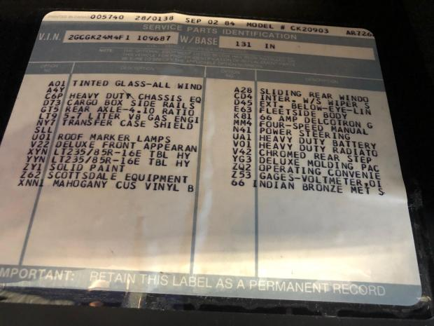 1985 Chevrolet K20 Scottsdale Bring a Trailer