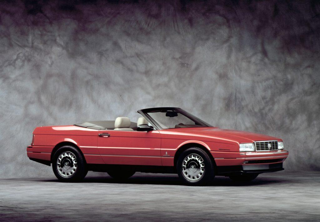 1990 cadillac allante red convertible