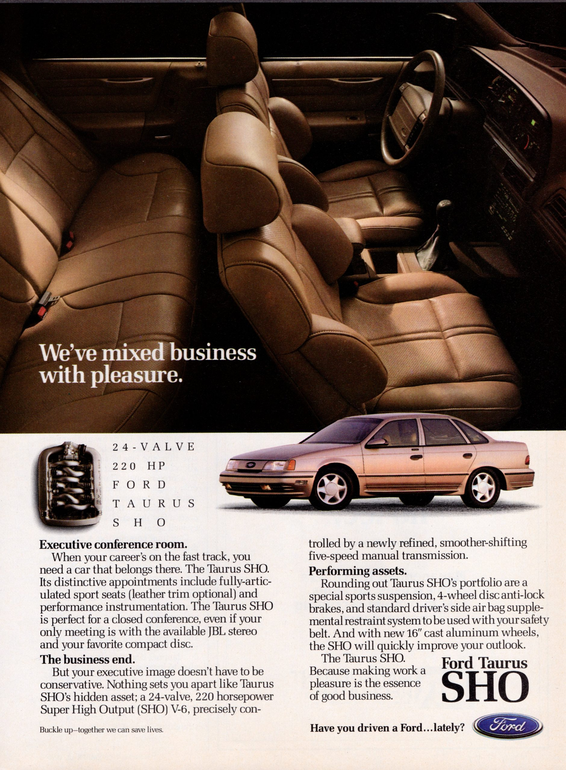 1991 Ford Taurus SHO Advert