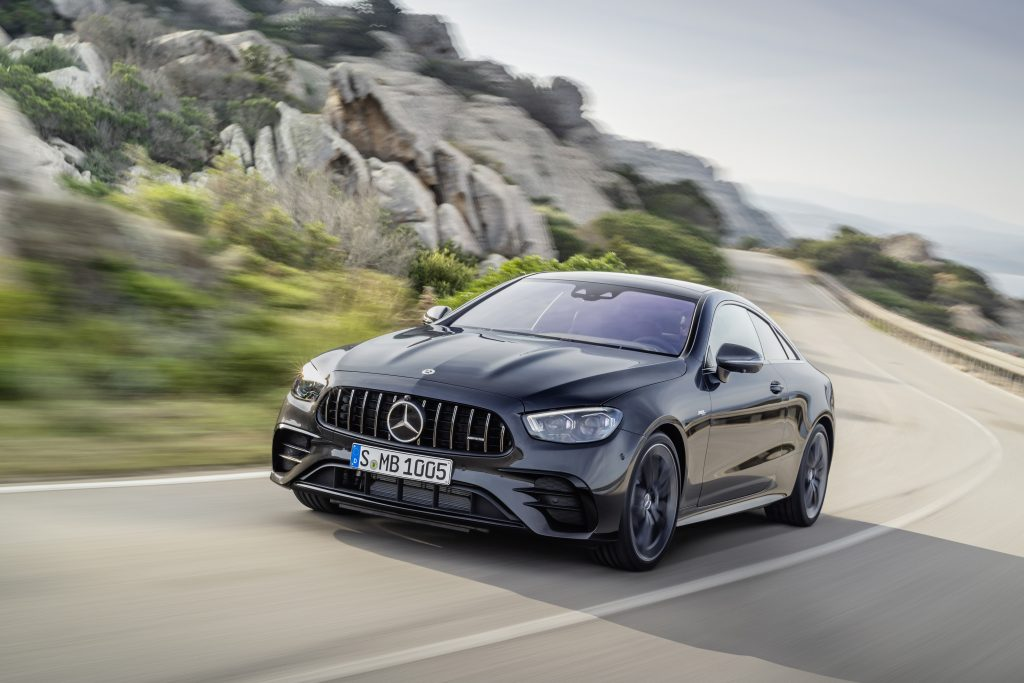 2021 Mercedes-AMG E53 Coupe front three quarter