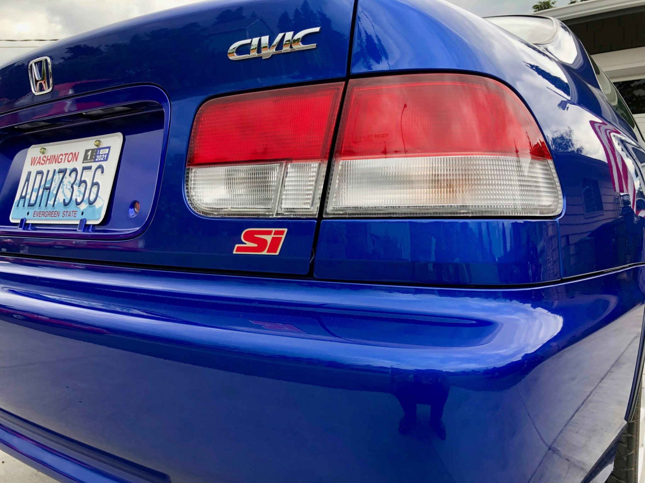 2000 Honda Civic Si Rear Three-Quarter Badging