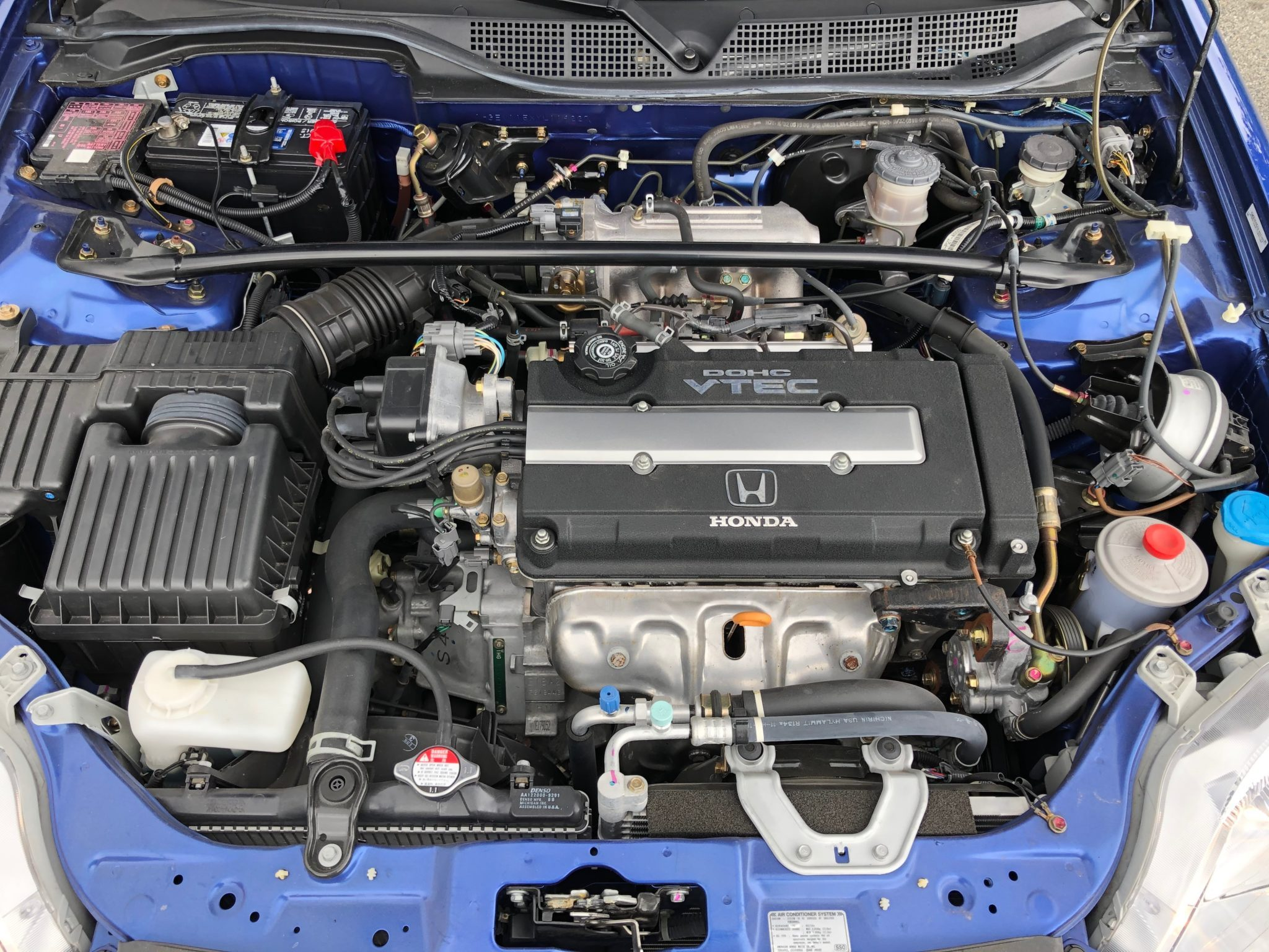 2000 Honda Civic Si Engine DOHC VTEC Front