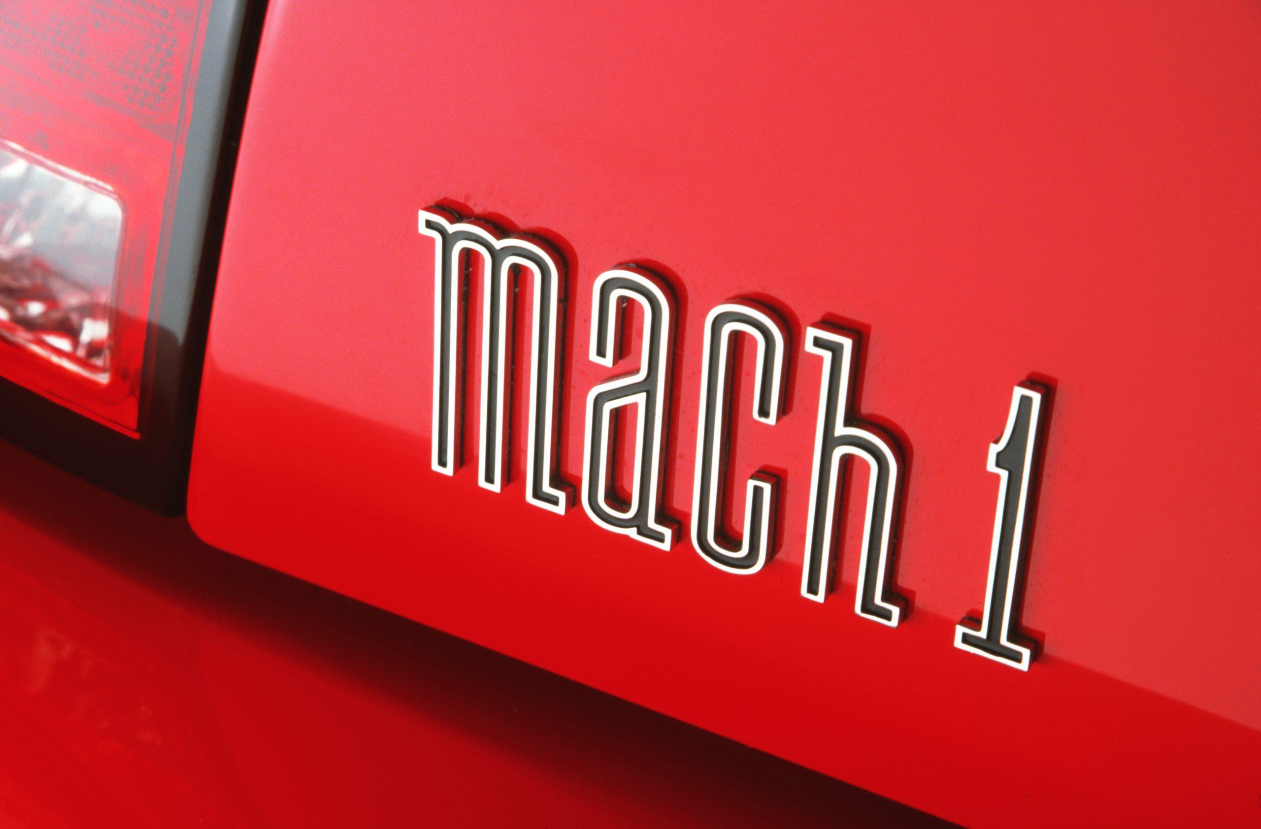 2003 Ford Mustang Mach 1 decklid emblem