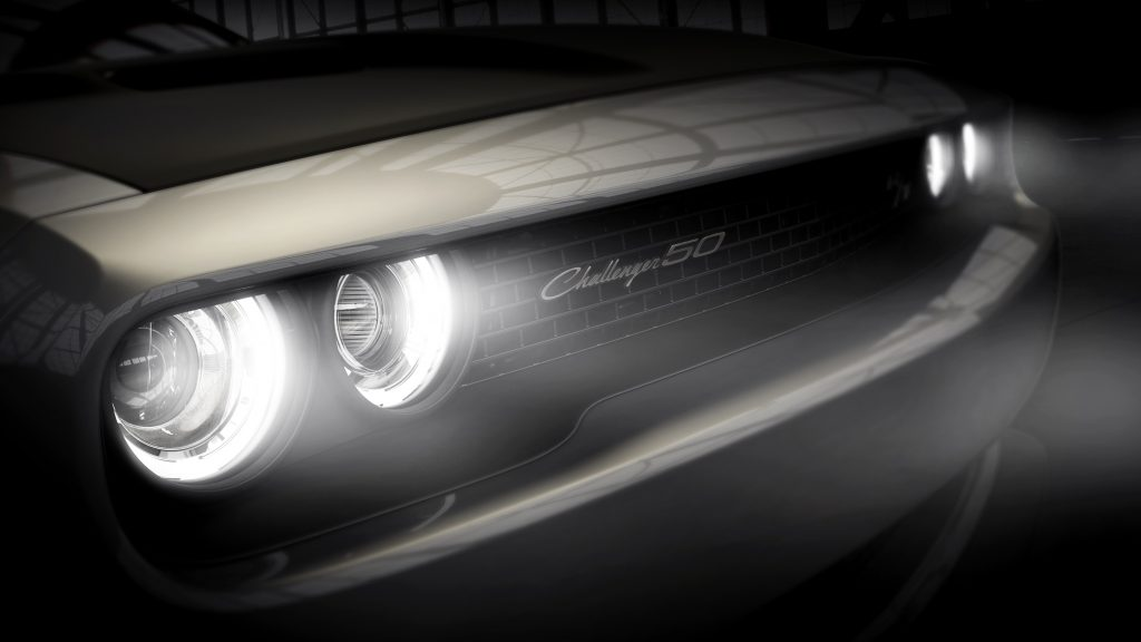 2020 Dodge Challenger 50th CE headlights