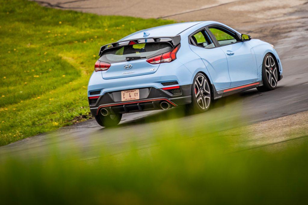 2020 Hyundai Veloster N track rear