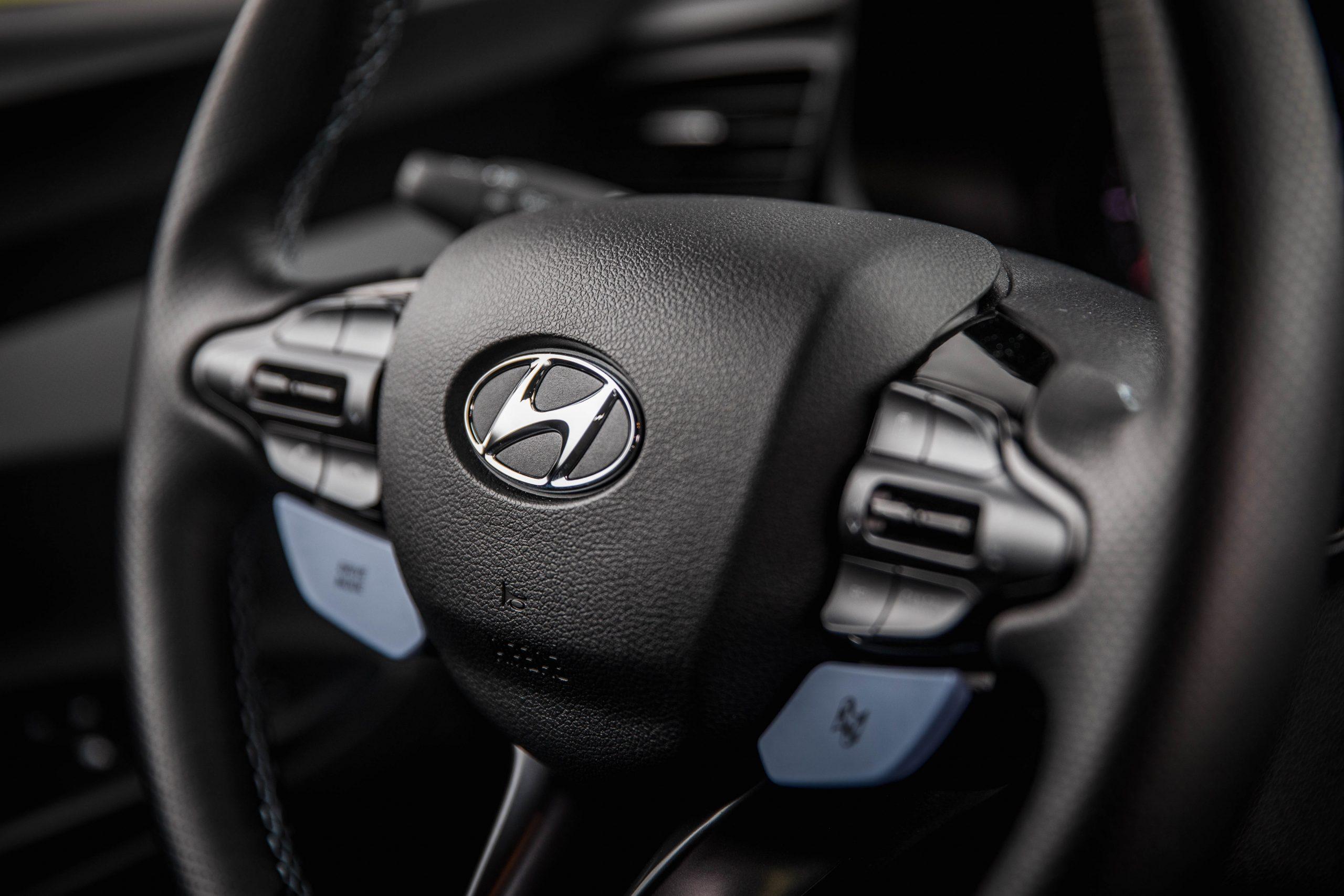 2020 Hyundai Veloster N steering wheel