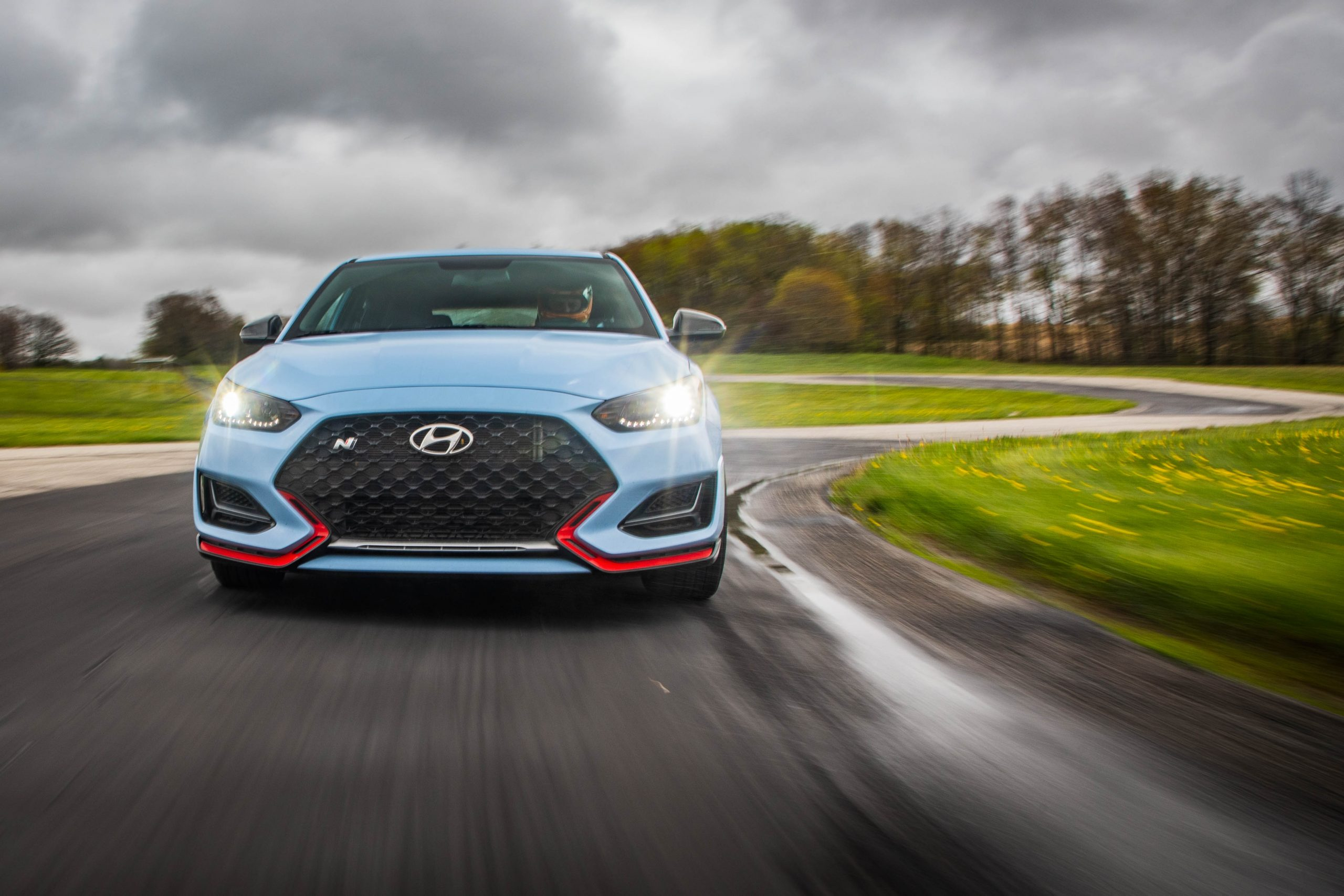 2020 Hyundai Veloster N track front