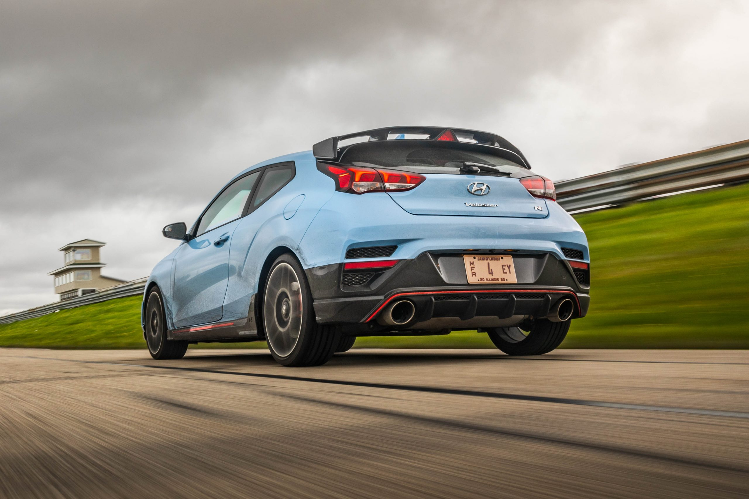 2020 Hyundai Veloster N track rear three quarter