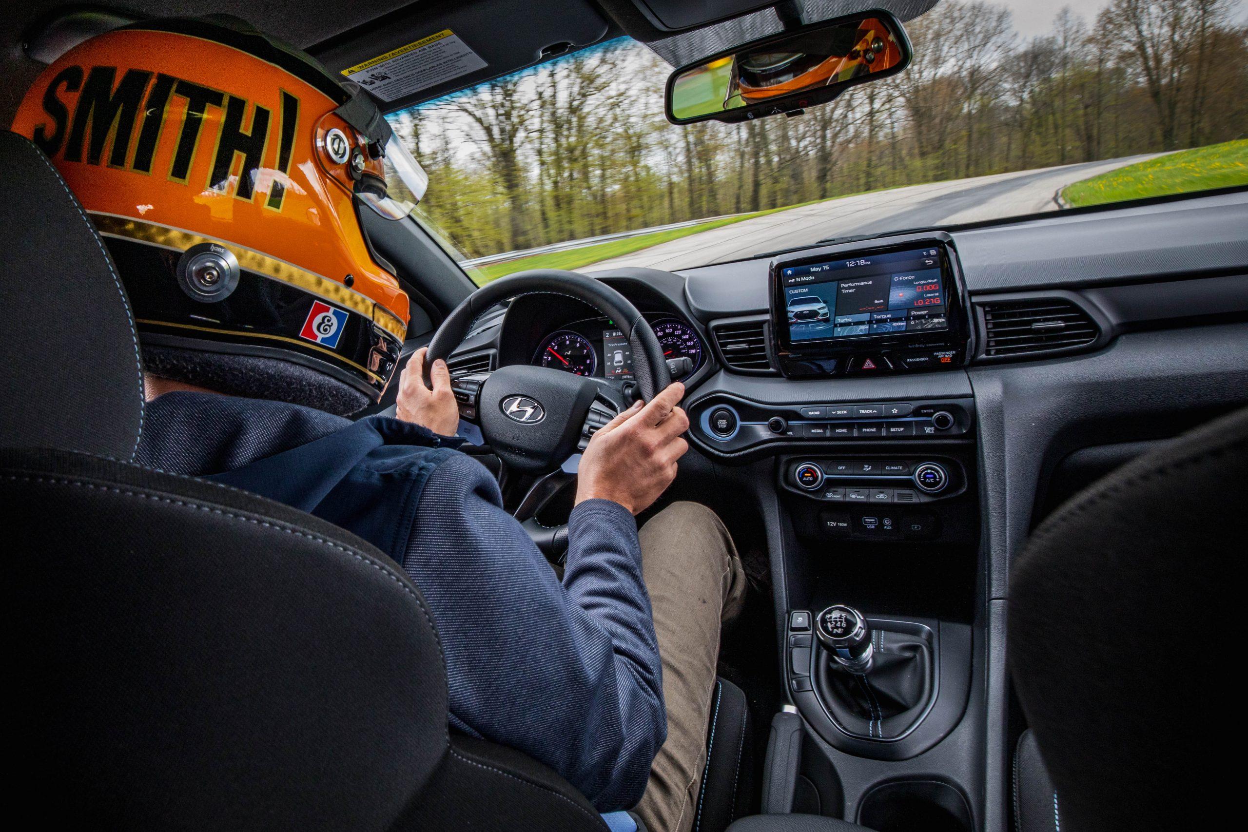 2020 Hyundai Veloster N interior track