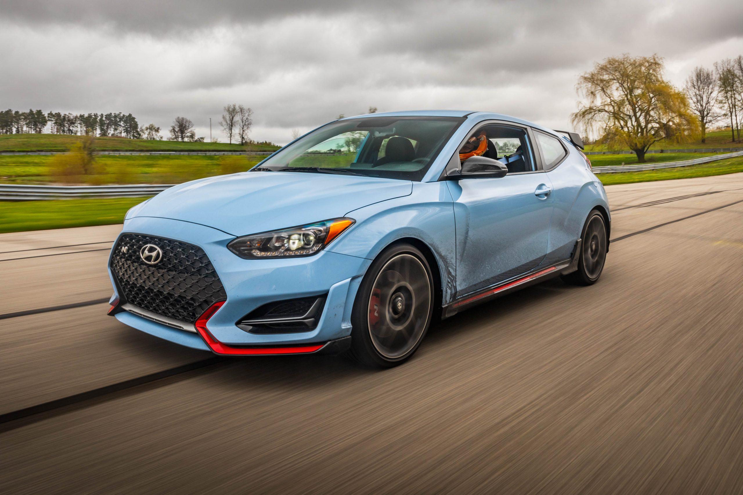 2020 Hyundai Veloster N track front three quarter