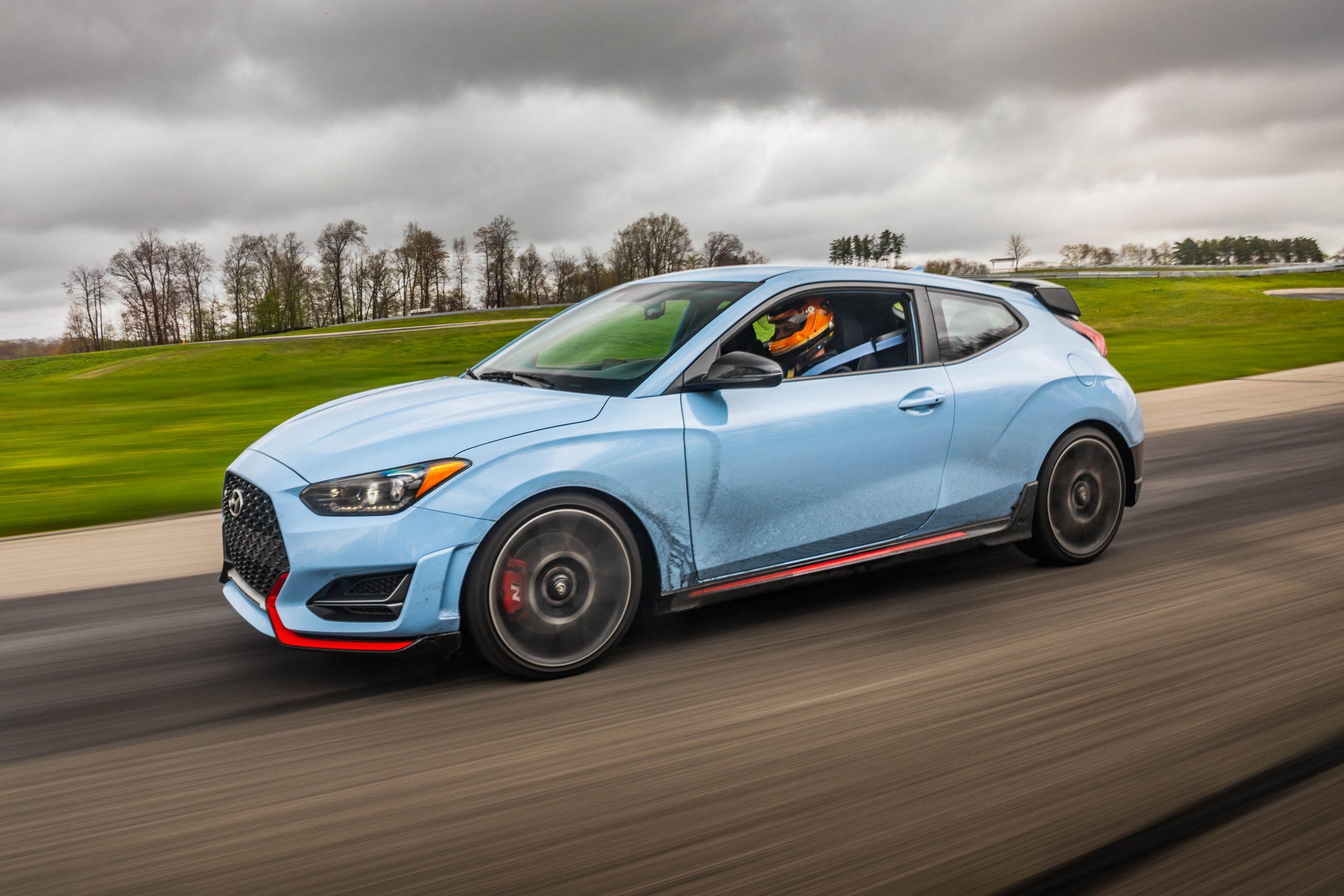 2020 Hyundai Veloster N track profile