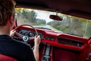 1965 Ford Mustang Interior Driving
