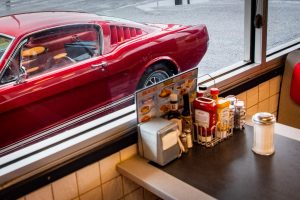 1965 Ford Mustang Side Through Cafe Window