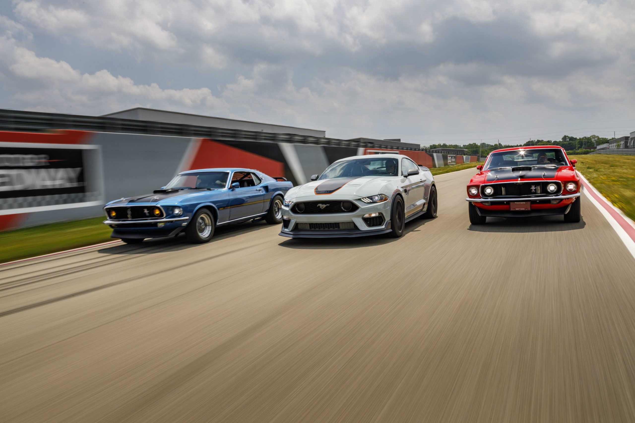 2021 Ford Mustang Mach 1 Generation Cars front three-quarter action
