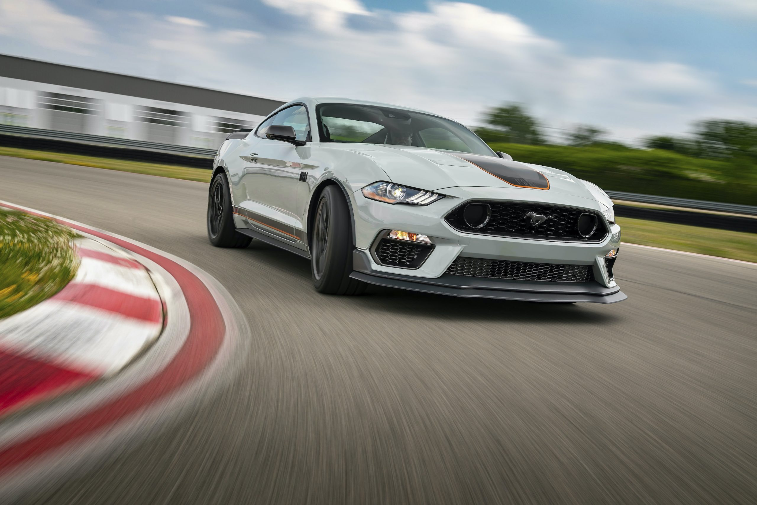 2021 Ford Mustang Mach 1 front three-quarter action