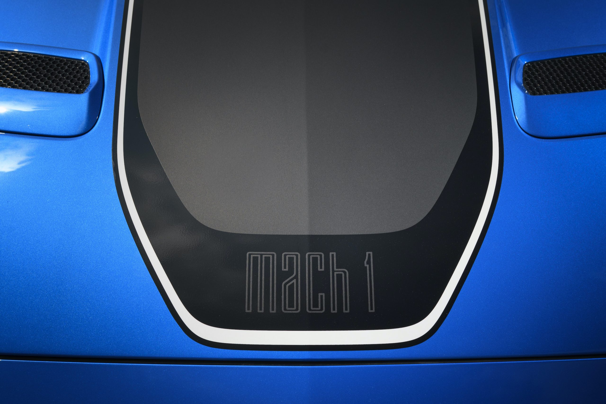 2021 Ford Mustang Mach 1 emblem detail