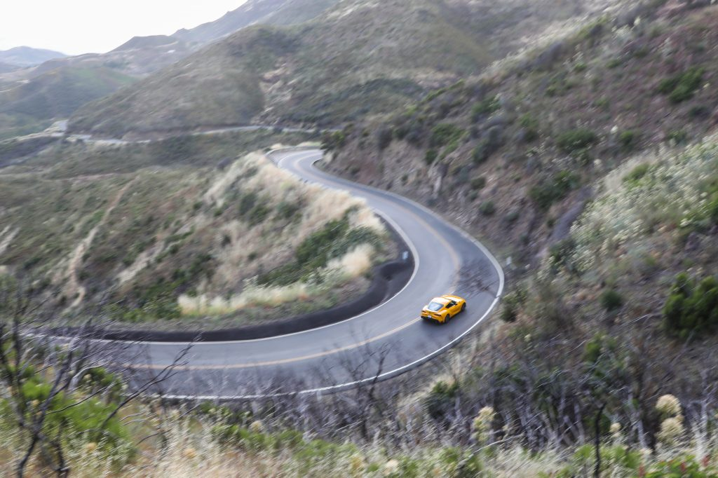 2021 Supra GR windy road