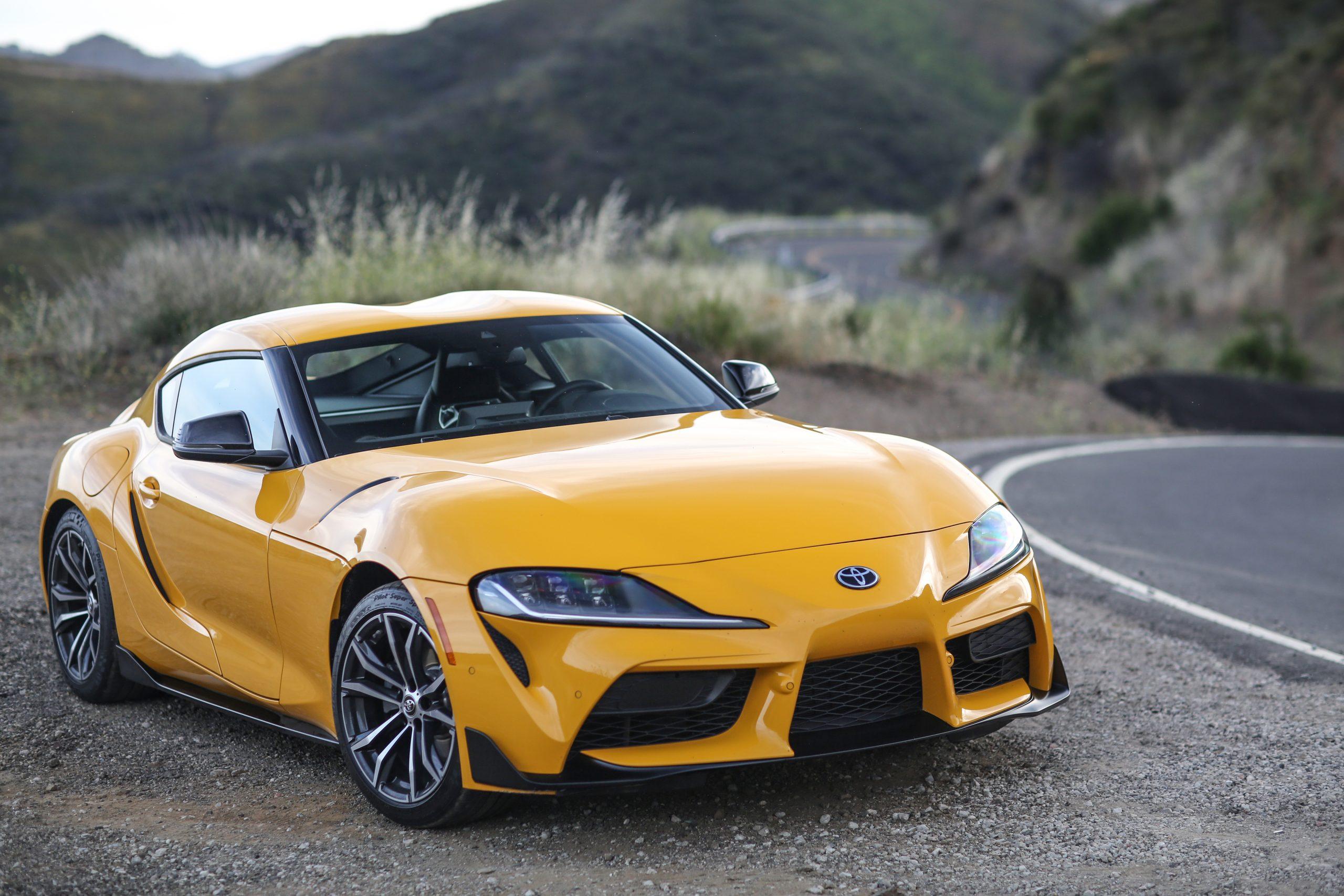 2021 Toyota Supra GR yellow