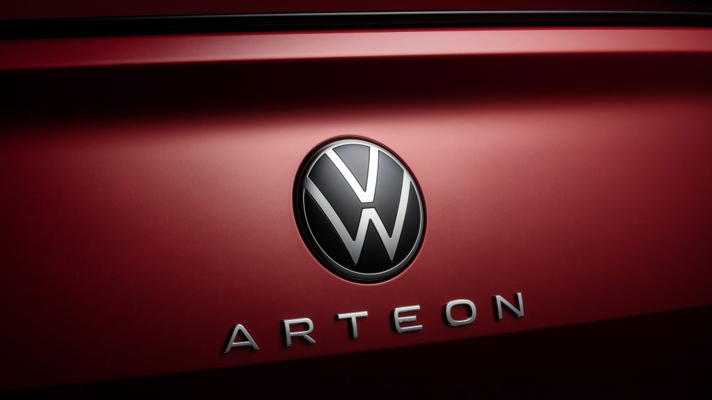 2021 VW Arteon Facelift new badge and typography