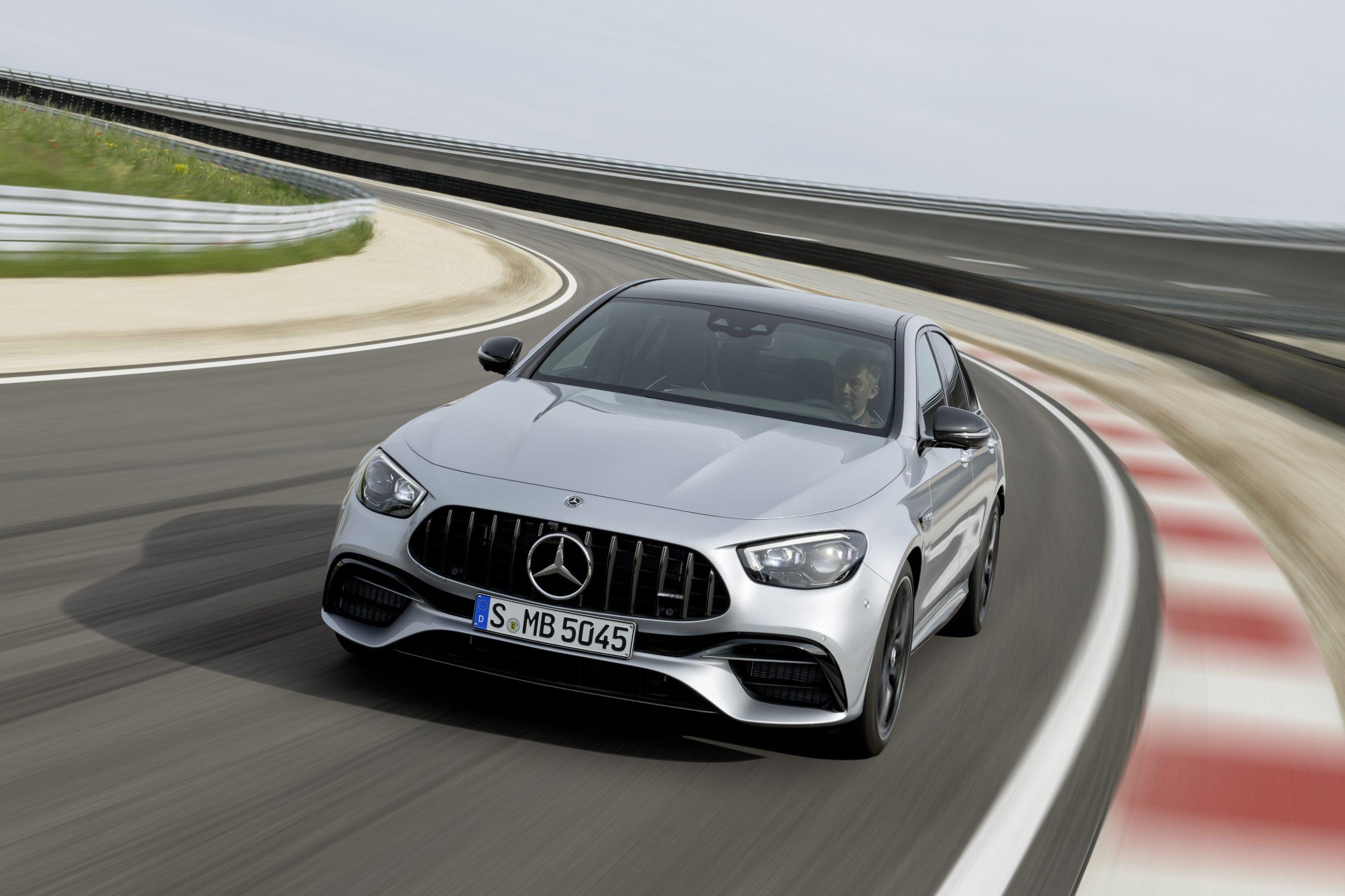 2021 Mercedes-AMG E63 S sedan on track