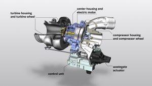 AMG electric turbo cutaway