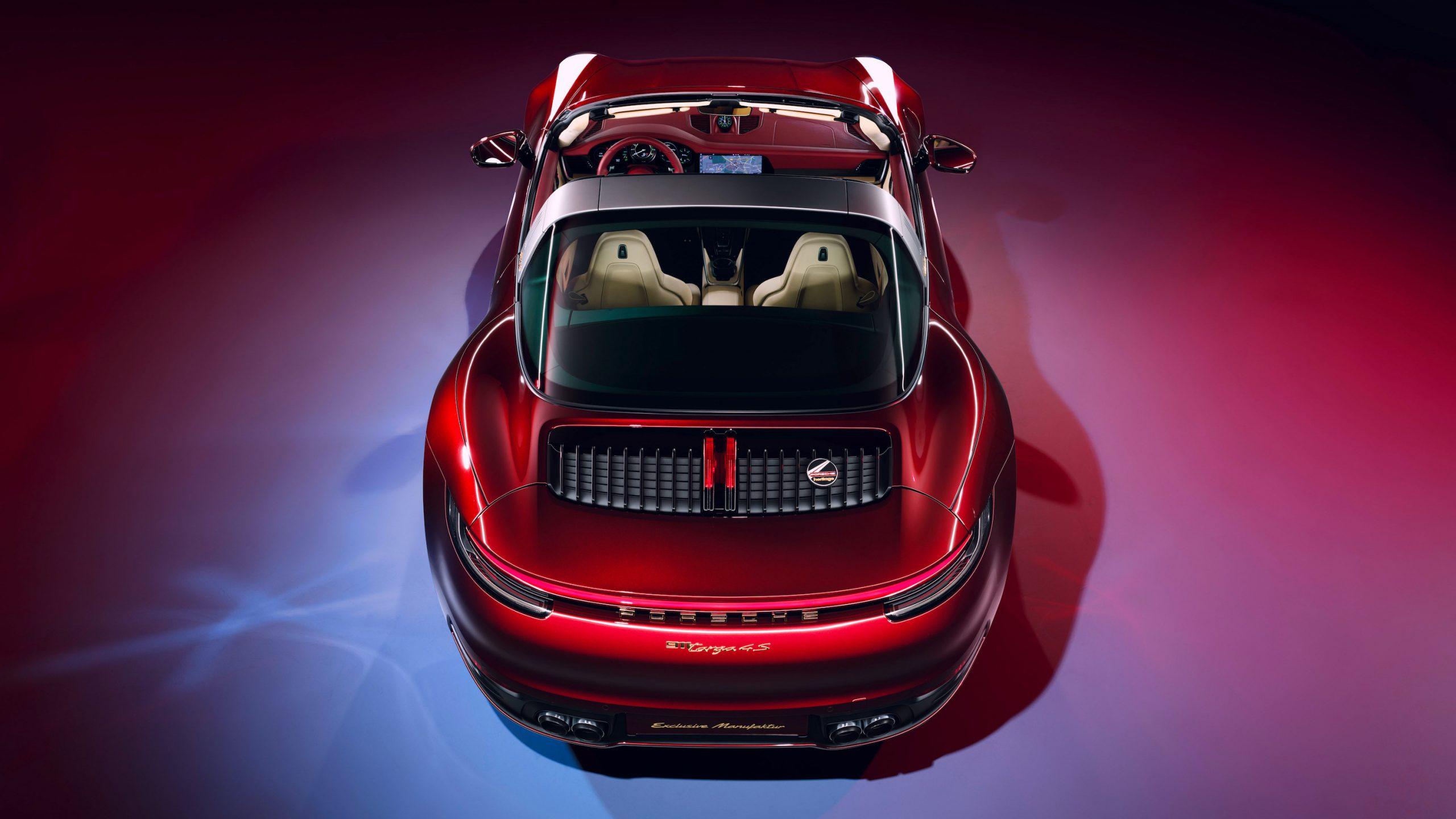 911 Targa 4S Heritage Design Overhead Rear