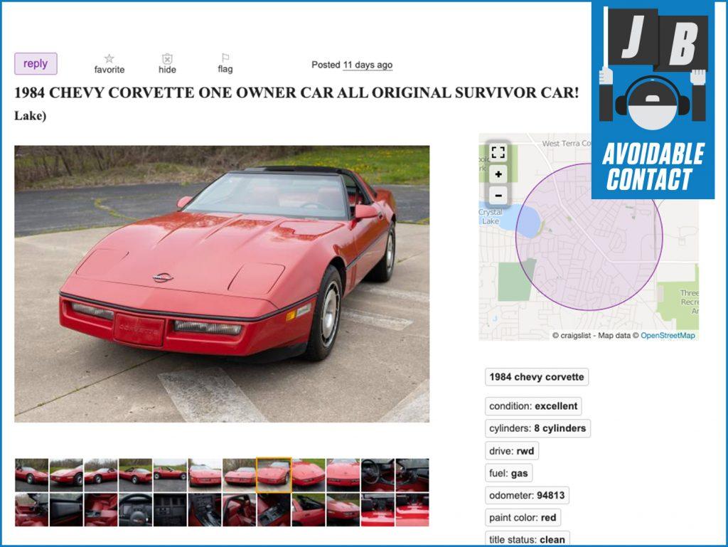 Avoidable Contact Column Survivor Corvette Front Three-Quarter
