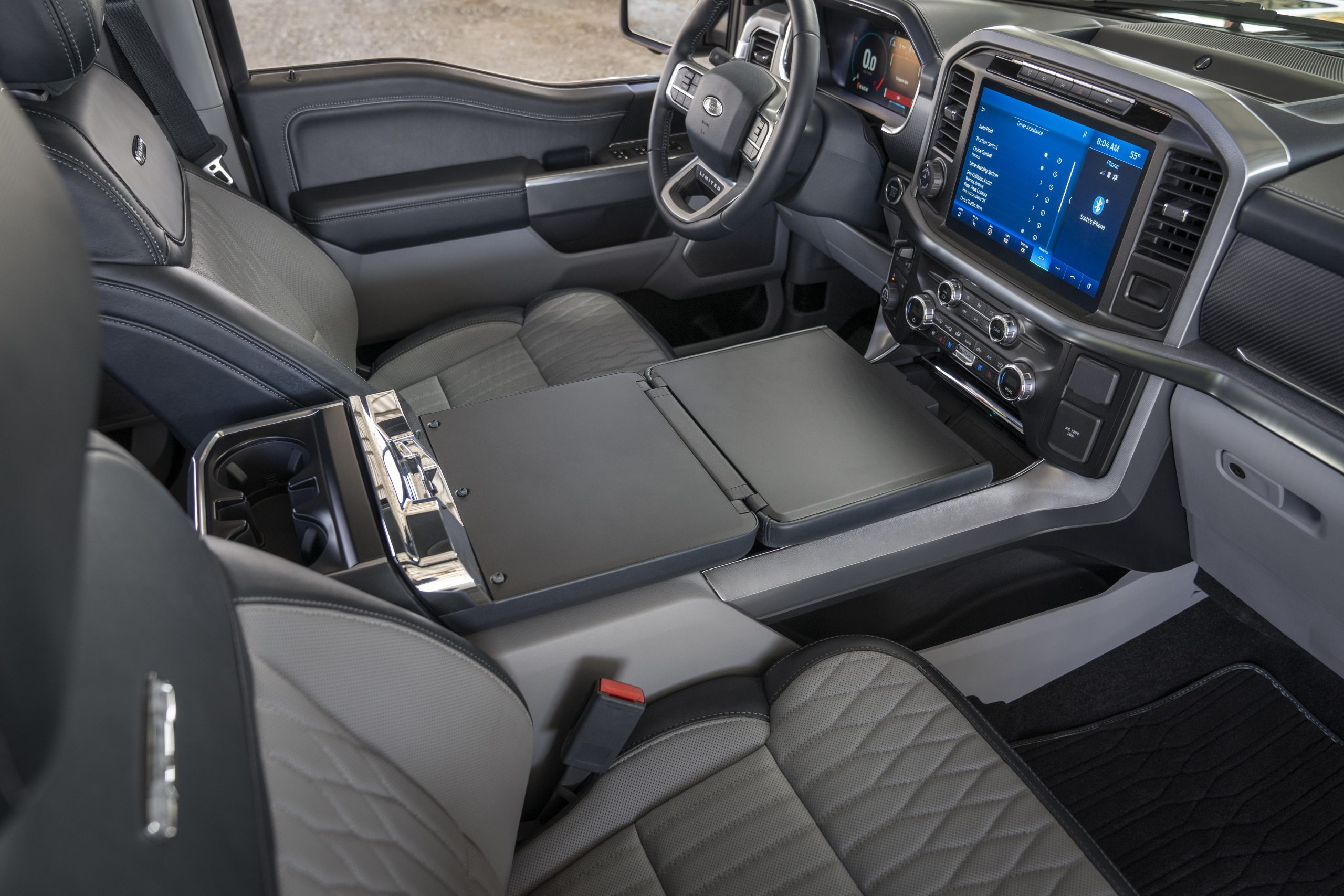 2021 Ford F-150 work surface interior