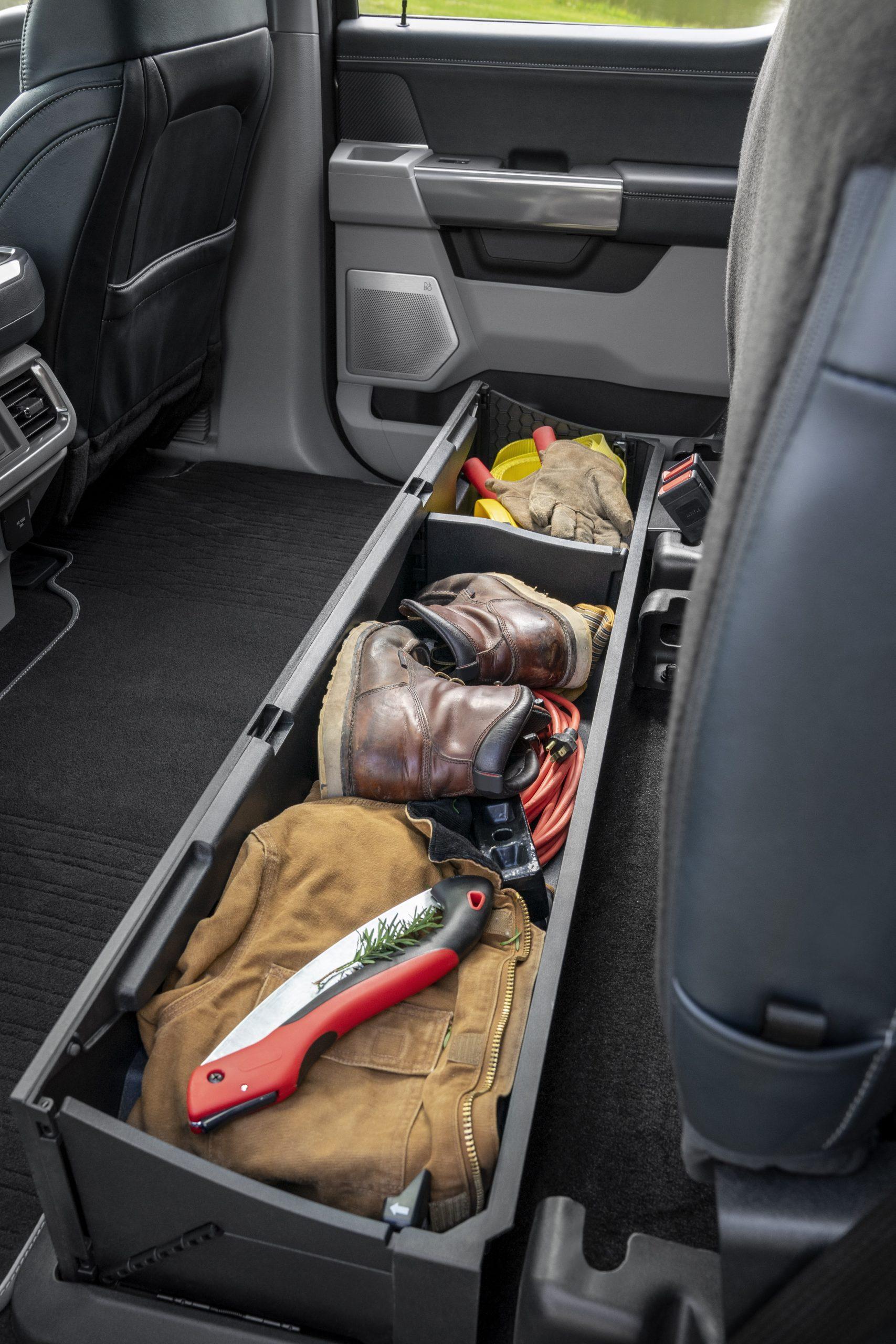 2021 Ford F-150 lockable rear storage
