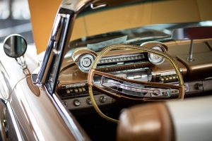 1961 Plymouth Fury convertible steering wheel