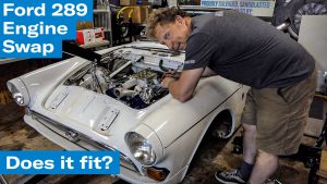 In goes the Ford 289 | Sunbeam Tiger engine swap project – Ep. 7